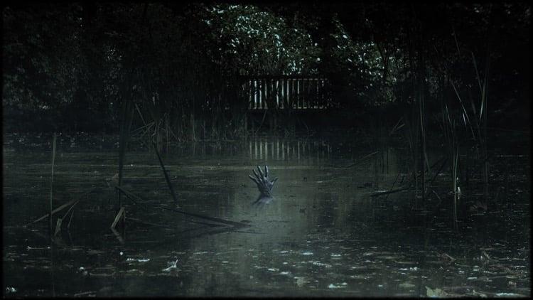 horror fog hand hardness swamp