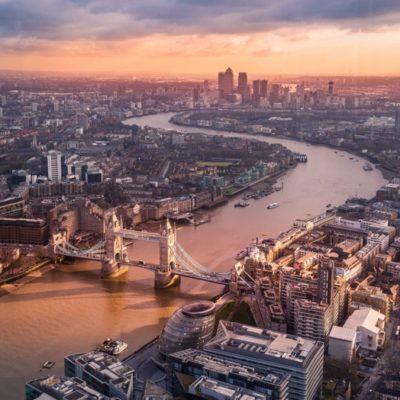 London Bridge Sunrise River