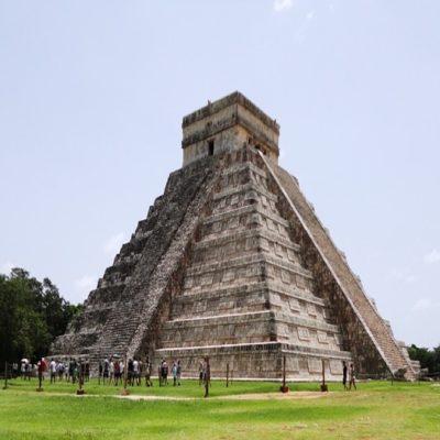 Pyramid Tourists Grass